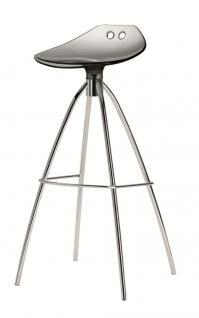 Design Barhocker grau transparent, Sitzhöhe 80 cm