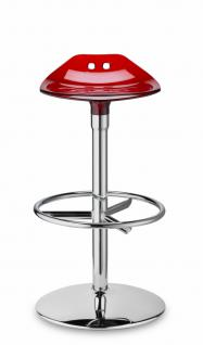 Design Barhocker rot transparent modern drehbar