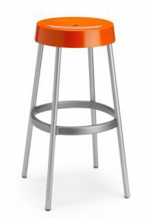 Design Barhocker, Farbe orange, Aluminium