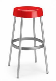 Design Barhocker, Farbe rot, Aluminium