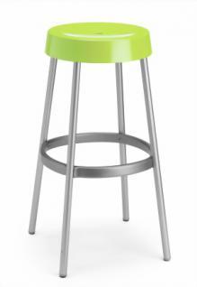 Design Barhocker, Farbe hellgrün, Aluminium - Vorschau