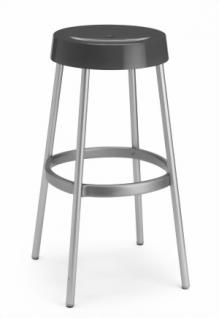 Design Barhocker, Farbe anthrazit, Aluminium - Vorschau