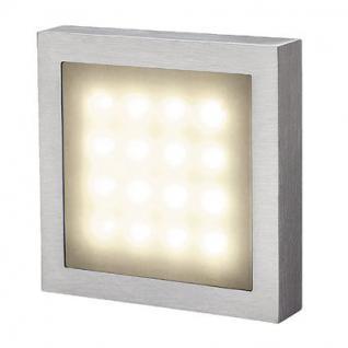 Wandleuchte Aluminium/ Kunststoff LED warmweiß - Vorschau