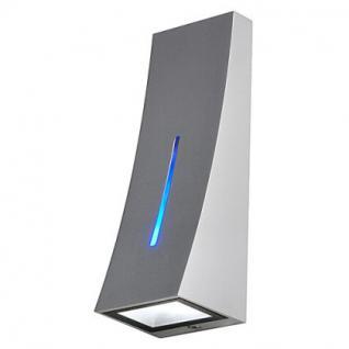 LED Wandleuchte Aluminium/Glas silbergrau LED 6000K/blau - Vorschau 2