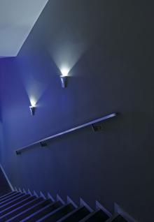 LED Wandleuchte Aluminium/Glas silbergrau LED 6000K/blau - Vorschau 5