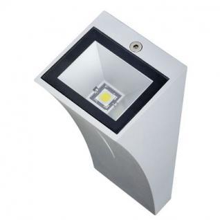 LED Wandleuchte Aluminium/Glas silbergrau LED 6000K/blau - Vorschau 4