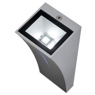 LED Wandleuchte Aluminium/Glas silbergrau LED 6000K/blau - Vorschau 3