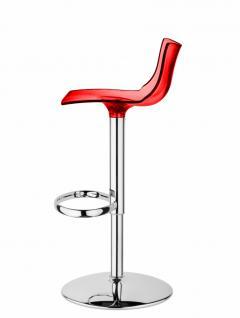 Design Barhocker rot transparent Höhe verstellbar stylisch