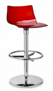 Design Barhocker rot transparent stylisch drehbar