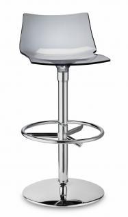 Design Barhocker grau transparent stylisch drehbar