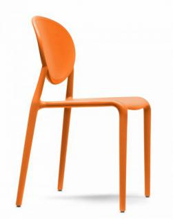 Design Stuhl Kunststoff Glasfaser orange