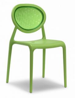 Design Stuhl Kunststoff Glasfaser grün