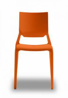 Design Stuhl Kunststoff orange