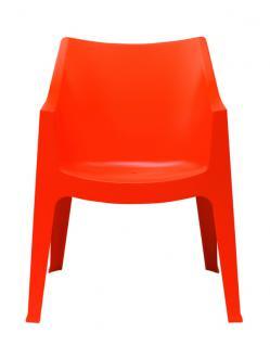 Design Stuhl Kunststoff orange Outdoor geeignet - Vorschau