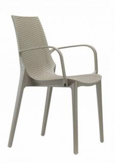 Design Gartenmobel Stuhl Kunststoff Taubengrau Glasfaser Kaufen