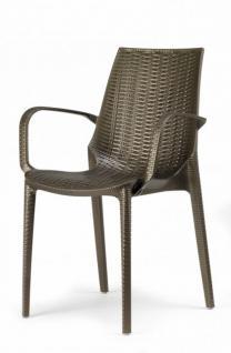 Design Gartenmobel Stuhl Kunststoff Braun Glasfaser Kaufen Bei