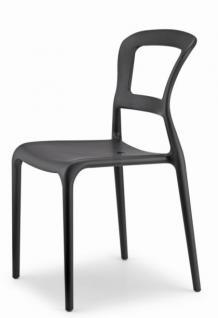Design Stuhl Kunststoff anthrazit Outdoor geeignet