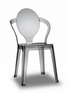 Design Stuhl style modern grau transparent