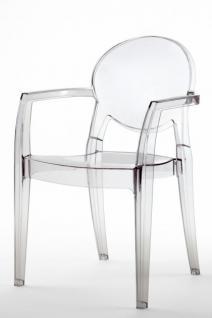 Design Stuhl modern klassisch mit Armlehne transparent
