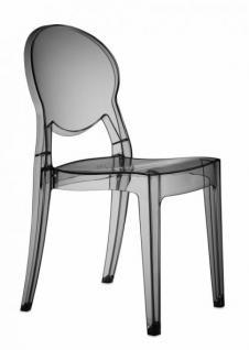 Design Stuhl modern klassische Kunststoff transparent grau