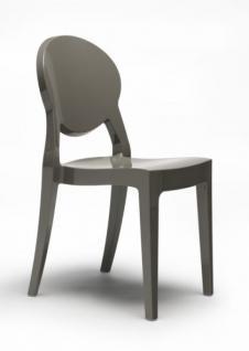 Design Stuhl modern klassisch Kunststoff taubengrau