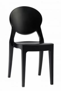 Design Stuhl modern klassisch Kunststoff schwarz - Vorschau