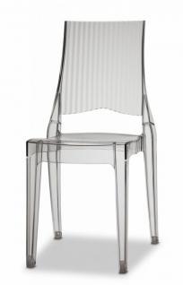 Design Stuhl modern recyclebarer Kunststoff transparent