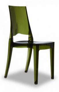 Design Stuhl modern recyclebarer Kunststoff olivgrün