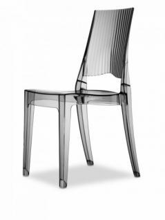 Design Stuhl modern recyclebarer Kunststoff transparent grau