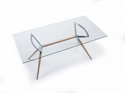 Design tisch holz buche metall drei verschiedene gr en for Design tisch holz metall