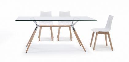 Design Tisch Holz Buche Metall 3 Verschiedene Größen Modern   Vorschau 3