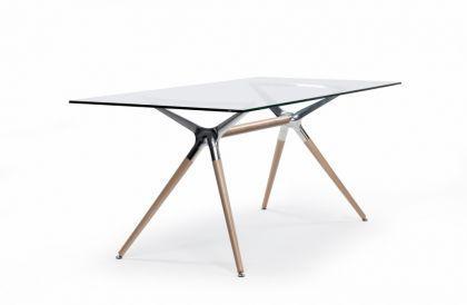 design tisch holz buche metall 3 verschiedene gr en. Black Bedroom Furniture Sets. Home Design Ideas