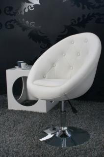 Design Sessel mit Zierknöpfen modern in weiß - Vorschau 1