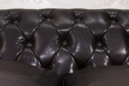 Sofa Landhaus Style 3er dark coffee mit Nietenbesatz - Vorschau 3