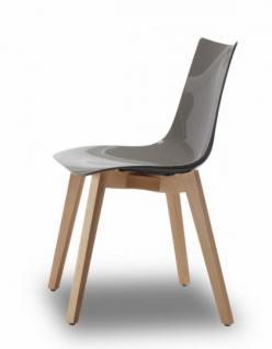 Design Stuhl Buche Natural Holz grau
