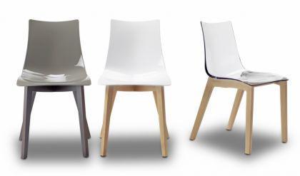 Design Stuhl Wenge Buche Holz grau - Vorschau 2