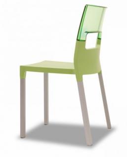 Design Stuhl grün transparent ausgbleichte Buche - Vorschau 2