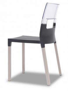 Design Stuhl Anthrazit Transparent Holz Buche