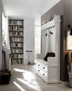 Gaderobe im Landhausstil mit zwei Schubladen, in weiß - Vorschau