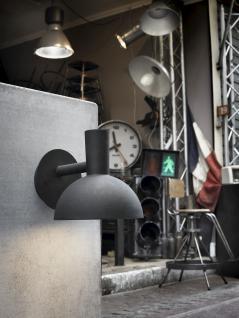 Wandleuchte Metall schwarz PVC Outdoor