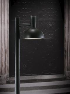 Stehleuchte Metall schwarz PVC Outdoor