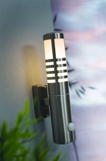 Wandleuchte rostfreier Edelstahl PVC Outdoor Bewegungssensor