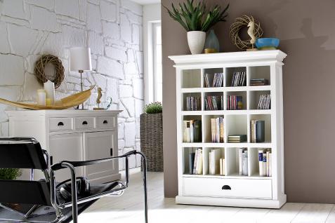 regal schrank f r cd und dvd im landhausstil in wei kaufen bei richhomeshop. Black Bedroom Furniture Sets. Home Design Ideas