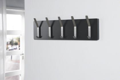 wandgarderobe garderobe mit f nf doppelhaken farbe anthrazit breite 100 cm kaufen bei. Black Bedroom Furniture Sets. Home Design Ideas