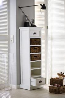 Regal mit zwei Schubladen im Landhausstil in weiß