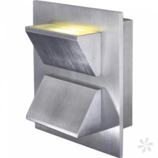 Wandleuchte aus gebürstetem Aluminium, LED
