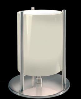 Tischleuchte Metall satin Glas weiß modern dimmbar - Vorschau 1