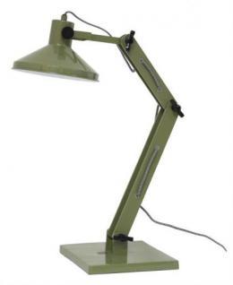 Design Tischleuchte, Tischlampe, Farbe grün mit verstellbaren Arm