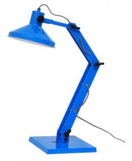 Design Tischleuchte, Tischlampe, Farbe blau mit verstellbaren Arm - Vorschau 1