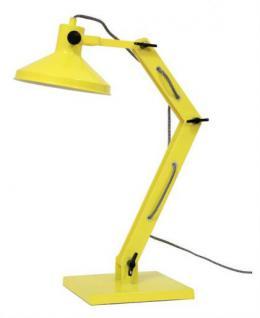 Design Tischleuchte, gelb mit verstellbaren Arm - Vorschau 1